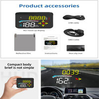 3.5-inch Car HUD Head-up Display OBD2 + GPS Universal LED Windshield Speedometer