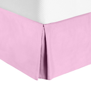 """Premium Luxury Pleated Tailored Bed Skirt - 14"""" Drop Dust Ruffle, Full XL -Lilac"""