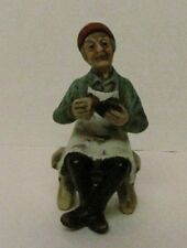 Elderly Old Man Shining Shoes Figurine Made In Taiwan