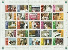 """VATICANO, 2003 """"25º anno di pontificato di Giovanni Paolo II"""", FOGLIO - Nuovo"""