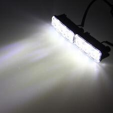 Universal 2x 3LED 12V Super Bright White Car DRL Daytime Running Light Fog Lamp