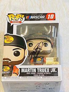 MARTIN TRUEX JR BASS PRO HAND SIGNED 2020 NASCAR FUNKO POP!!!!!!!!!