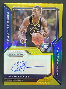 2020-21 Panini Prizm GOLD Cassius Stanley Rc AUTO Autograph #6/10 Pacers