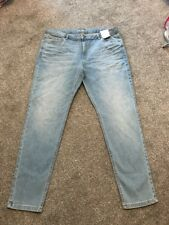 M&s Lt Indigo Low Rise Skinny Jeans Size 16 Regular  Bnwt Free Sameday Postage