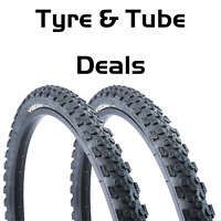 "Vandorm Storm 26"" x 1.95"" Mountain Bike Cycle Tyres Pairs and Tube Deals"