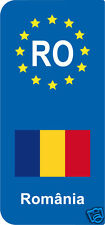 lot 2 Stickers style immatriculation (Vinyl FLAG) Europe România