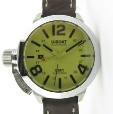 .2018 U-Boat Classico Automatic Tungsten GMT 45mm Watch Box & Docs 8051