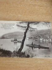 Postcard Unused Villefrance The Naval Squadron Nice Edge Wear Old Undated B 1100