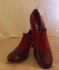 Franco Sarto Chaps Style Size 7 M Wine Red Stretch Cloth/ Leather Women's Heels