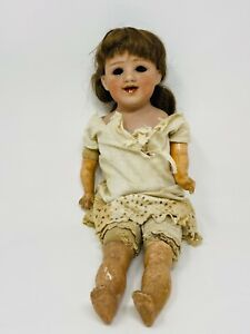 Antique German Gebrüder Heubach Bisque Headed Doll