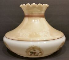 Vintage Hurricane Lamp Large Hand Painted Milk Glass Globe/Shade 14x11 BEAUTIFUL