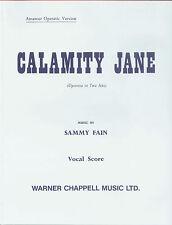 Calamity Jane comédies musicales clavier de piano vocal apprendre à jouer des morceaux de musique faber Livre
