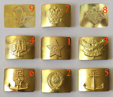 Brass plaques soldiers military army belt: Airborne, Navy, MVD, soldiers USSR
