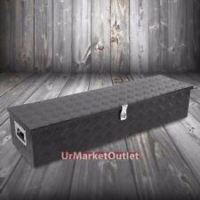 "39""x13""x10"" Black Pickup/Trailer Trunk Bed Utility Storage Flat Tool Box+Lock"