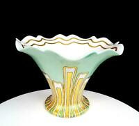 "LIMOGES FRANCE GENEVIEVE WILLIAMS SIGNED HAND PAINTED ART DECO 9 1/4"" VASE 1950"