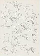 Portugal equipo internacional 1995 Original Firmada A Mano Hoja De Tamaño A4 X 20 firmas