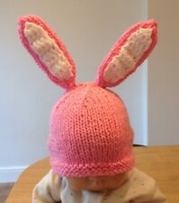 Hand Knitted Baby Bunny  Hat (0-3 Months)