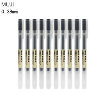 Japan MUJI Gel Ink Ball Point Pen 0.38mm Black School Office Moma Ballpoint