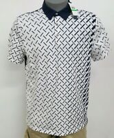 Perry Ellis Principles White Navy S/S Men's Polo Shirt NWT $59.50 Choose Sz
