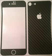 Carbon Fiber Black Textured Vinyl Skin Wrap for Apple iPhone 8 - DilloWraps