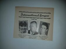 Coaker Triplett Buffalo Bisons Bob Porterfield 1949 Sporting News Minor Panel