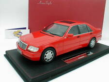 "FrontiArt AS007-06 - Mercedes Benz S600 (W140) Baujahr 1997 in "" rot "" 1:18 NEU"
