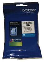Genuine Brother LC3029C XXL Cyan Ink Cartridge New Factory Sealed 1500 Page