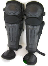 POLICE & ARMY SECURITY STYLE ANTI RIOT BLACK PROTECTIVE LEG PADS
