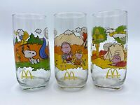 VINTAGE Camp Snoopy Peanuts McDonald's Glasses 1965 1971 - Set of 3 - Excellent!