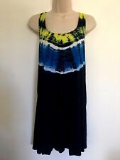 New Women's Lucky Cover up tunic Blue Large