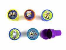 5PCS MINIONS SELF INK STAMPS STAMPER KIDS STATIONERY PARTY BAG #A