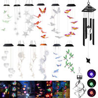 Color-Changing LED Solar Powered Lights Wind Chimes Yard Home Garden Decor US