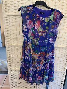 WALLIS LADIES DRESS SIZE 12 Blue Floral