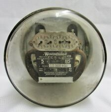 Antique Westing House Glass Electric Watthour Meter 5amp Vintage Glass 1950s