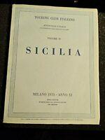Touring Club Italiano Sicilia Volume IV Milano 1933