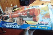 Nerf Red Super Soaker Shot Blast Hasbro Water Gun Unused Box Damage 2009