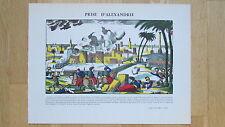 Prise d'Alexandrie. Egypte. Napoléon Bonaparte. Imagerie Pellerin à Epinal. TBE