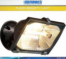 Outdoor FLOOD SECURITY LIGHT Fixture 300w HALOGEN 3900Lumens Bronze BRINKS 7210b