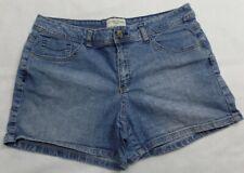 St. John's Bay Denim Jeans Shorts Women's Size 16 Petite  Pockets Zipper Button