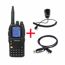 New Wouxun KG-UV9D&UHF/VHF FM Repeater&Cable&Speaker Mic VOX TOT WalkieTalkie