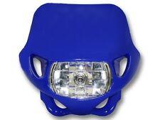Motorbike Headlight Universal Fit MX Enduro Yamaha Blue