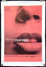 "Stolen Kisses 1969 Original Movie Poster One Sheet Linen Backed 27"" x 41"" C8-C9"
