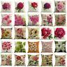 "Solid Floral Cotton Cushion Cover Home Decor Sofa Car Throw Pillow Case 18""*18"""