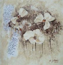 Acrylbild Malerei Mohn Blumen Blüten Original Gemälde Leinwandbild