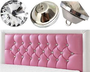 Crystal Rhinestone Diamond Buttons Tufting Sofa Upholstery Headboard Wall Decor