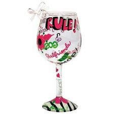 Lolita Holiday Glass Christmas Mini-Wine Ornament, Girlfriends Rule