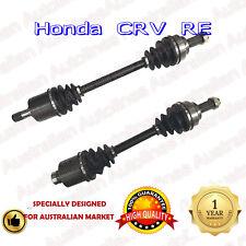 2 Brand New Honda CRV CR-V RE 2.4L Front CV Joint Drive Shafts 10/06-10/2012