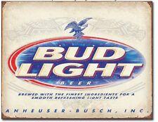 Bud Light Retro Anheuser Busch  Budweiser Advertising Wall Decor Metal Tin Sign