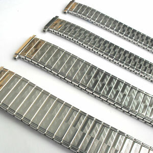 EXPANDING WATCH BRACELET Stainless Steel 9mm - 20mm Brand New Stretch Band UK