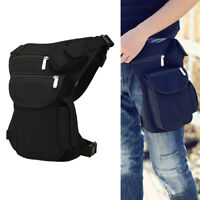 Men Canvas Drop Leg Bag Motorcycle Rider Tactical Military Belt Waist Fanny Pack